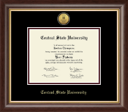 Central State University Diploma Frame - Gold Engraved Medallion Diploma Frame in Hampshire