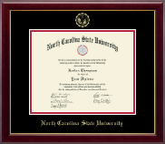 North Carolina State University Diploma Frame - Gold Embossed Diploma Frame in Gallery
