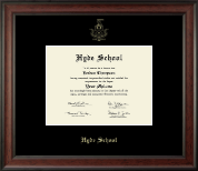 Hyde School Diploma Frame - Gold Embossed Diploma Frame in Studio