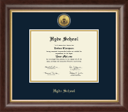 Hyde School Diploma Frame - Gold Engraved Diploma Frame in Hampshire