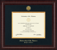 University of St. Thomas Diploma Frame - Presidential Gold Engraved Diploma Frame in Premier