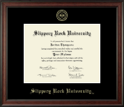 Slippery Rock University Embossed Frame - Gold Embossed Edition in Studio