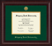 Slippery Rock University Diploma Frame - Presidential Gold Engraved Diploma Frame in Premier