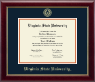 Virginia State University Diploma Frame - Gold Embossed Diploma Frame in Gallery