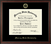 Murray State University Diploma Frame - Gold Embossed Diploma Frame in Studio