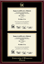 University of Wisconsin Oshkosh Diploma Frame - Double Diploma Frame in Galleria