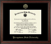 Youngstown State University Diploma Frame - Gold Embossed Diploma Frame in Studio
