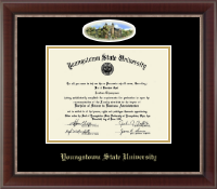 Youngstown State University Diploma Frame - Campus Cameo Diploma Frame in Chateau