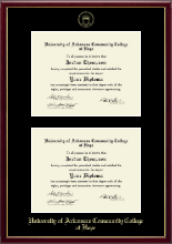 University of Arkansas Community College at Hope Diploma Frame - Double Diploma Frame in Galleria