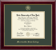 Morrisville State College Diploma Frame - Gold Embossed Diploma Frame in Gallery