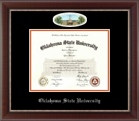 Oklahoma State University Diploma Frame - Campus Cameo Diploma Frame in Chateau