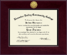 Kennebec Valley Community College Diploma Frame - Century Gold Engraved Diploma Frame in Cordova
