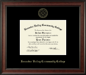 Kennebec Valley Community College Diploma Frame - Gold Embossed Diploma Frame in Studio