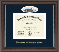 University of Southern Maine Diploma Frame - Campus Cameo Diploma Frame in Chateau