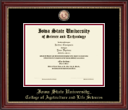 Iowa State University Diploma Frame - Masterpiece Medallion Diploma Frame in Kensington Gold