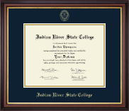 Indian River State College Diploma Frame - Gold Embossed Diploma Frame in Regency Gold