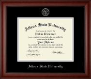 Athens State University Diploma Frame - Silver Embossed Diploma Frame in Cambridge