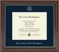University of New Hampshire Diploma Frame - Silver Embossed Diploma Frame in Chateau