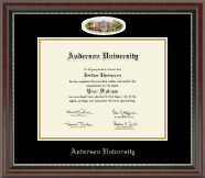 Anderson University in South Carolina Diploma Frame - Campus Cameo Diploma Frame in Chateau