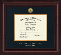 University of Wisconsin-Milwaukee Diploma Frame - Presidential Gold Engraved Diploma Frame in Premier