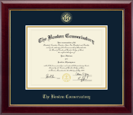 The Boston Conservatory Diploma Frame - Gold Embossed Diploma Frame in Gallery