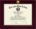 Lancaster Bible College Diploma Frame - Century Gold Engraved Diploma Frame in Cordova
