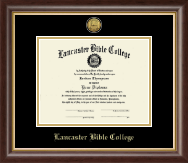 Lancaster Bible College Diploma Frame - Gold Engraved Diploma Frame in Hampshire