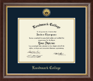 Landmark College Diploma Frame - Gold Engraved Medallion Diploma Frame in Hampshire