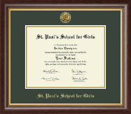 St. Paul's School For Girls Diploma Frame - Gold Engraved Diploma Frame in Hampshire