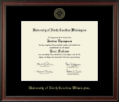 University of North Carolina Wilmington Diploma Frame - Gold Embossed Diploma Frame in Studio