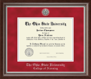 The Ohio State University Diploma Frame - Silver Engraved Medallion Diploma Frame in Devonshire