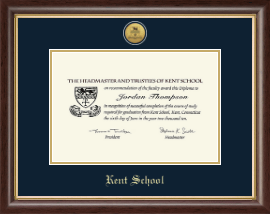 Kent School in Connecticut Diploma Frame - Gold Engraved Medallion Diploma Frame in Hampshire