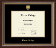 Hiram College Diploma Frame - Gold Engraved Diploma Frame in Hampshire
