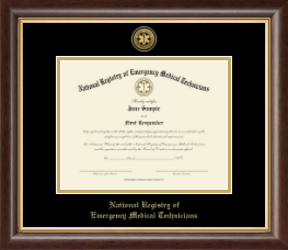 National Registry of Emergency Medical Technicians Certificate Frame - Gold Engraved Medallion Certificate Frame in Hampshire