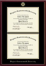 Virginia Commonwealth University Diploma Frame - Double Diploma Frame in Galleria