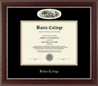 Bates College Diploma Frame - Campus Cameo Diploma Frame in Chateau