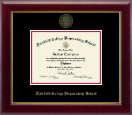 Fairfield College Preparatory School Diploma Frame - Gold Embossed Diploma Frame in Gallery