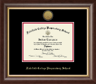 Fairfield College Preparatory School Diploma Frame - Gold Engraved Diploma Frame in Hampshire