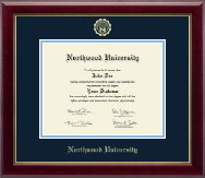 Northwood University in Michigan Diploma Frame - Gold Embossed Diploma Frame in Gallery