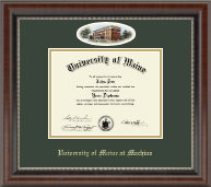 University of Maine Machias Diploma Frame - Campus Cameo Diploma Frame in Chateau