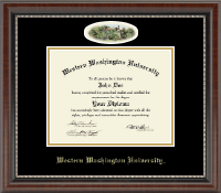 Western Washington University Diploma Frame - Campus Cameo Diploma Frame in Chateau