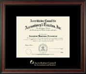 Accreditation Council for Accountancy and Taxation Certificate Frame - Gold Embossed Certificate Frame in Studio