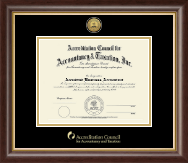 Accreditation Council for Accountancy and Taxation Certificate Frame - Gold Engraved Certificate Frame in Hampshire