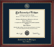 University of Michigan Diploma Frame - Masterpiece Edition Diploma Frame in Kensington Gold