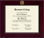 Broward College Diploma Frame - Century Gold Engraved Diploma Frame in Cordova