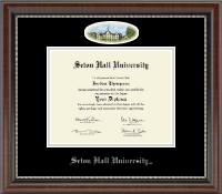 Seton Hall University Diploma Frame - Campus Cameo Diploma Frame in Chateau