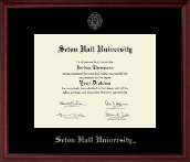 Seton Hall University Diploma Frame - Silver Embossed Diploma Frame in Camby