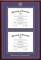 University of Evansville Diploma Frame - Double Document Diploma Frame in Galleria