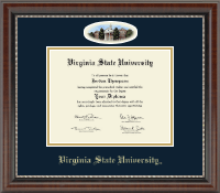 Virginia State University Diploma Frame - Campus Cameo Diploma Frame in Chateau