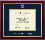 Saint Joseph College in Connecticut Diploma Frame - Gold Embossed Diploma Frame in Gallery